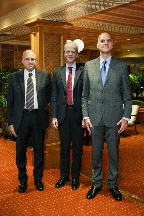 Da sinistra, Alberto Lipparini, Segretario generale di Assosementi, Garlich von Essen, Segretario Generale di ESA European Seed Association e Giuseppe Carli, presidente di Assosementi